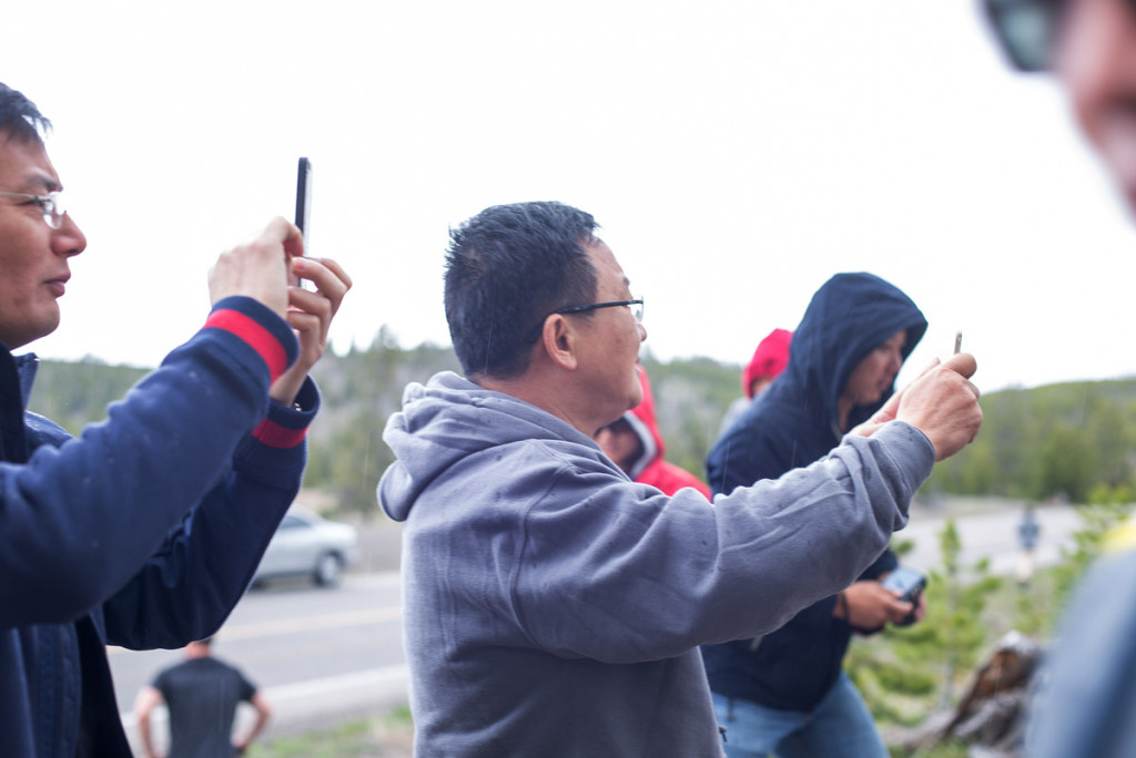 Japonští turisté v Yellowstonu