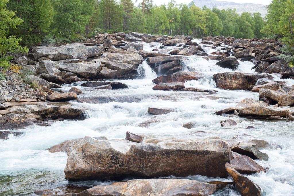 arktická říčka v Norsku