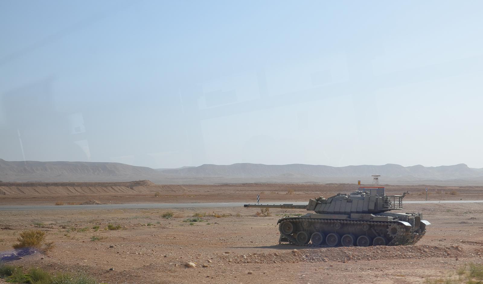 tank kdesi v Negevské poušti
