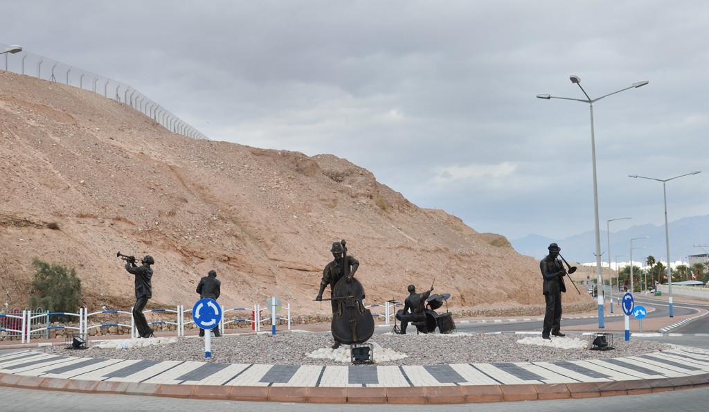kruhový objezd ve stylu jazzového kvintetu, Eilat