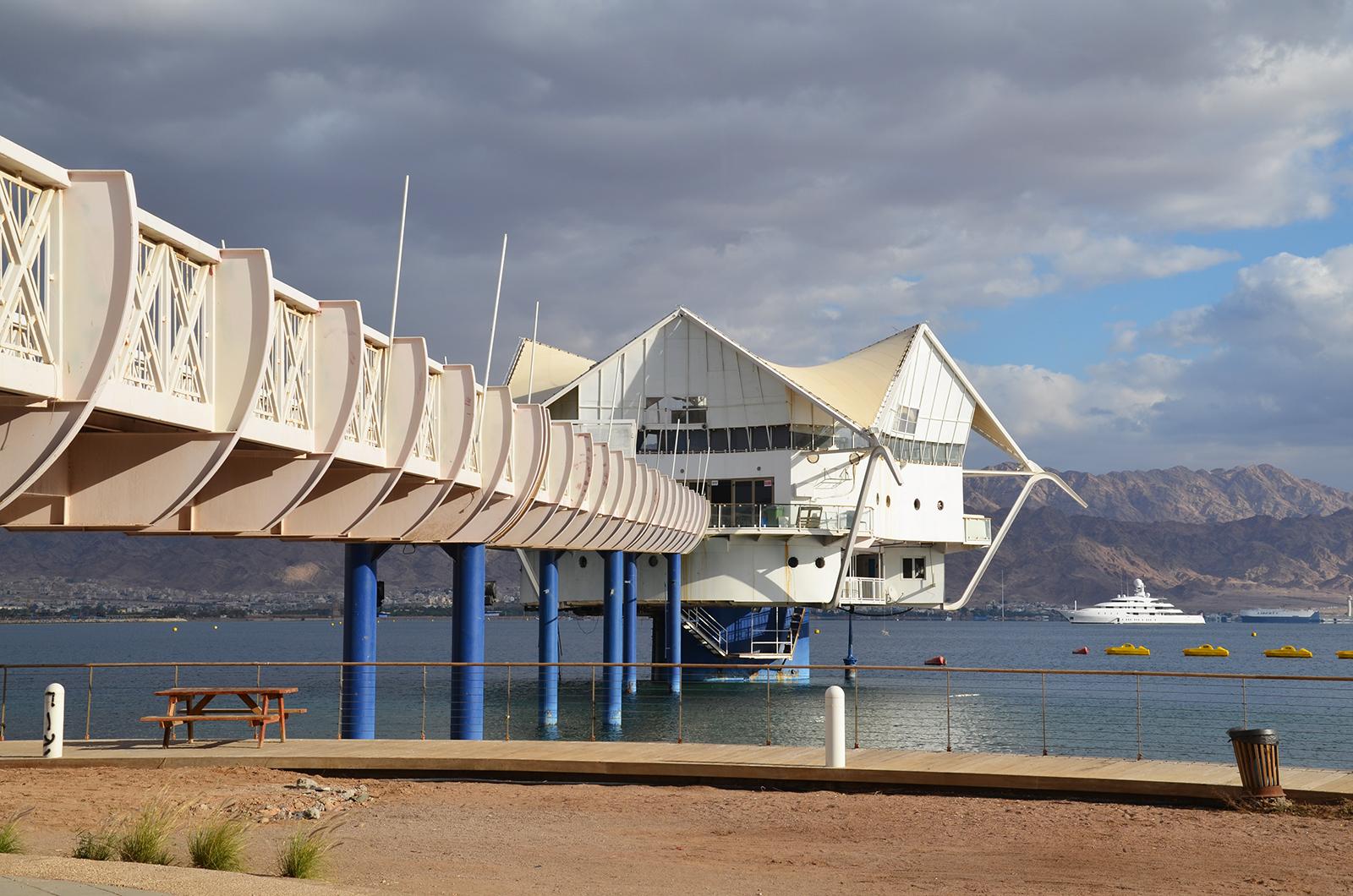 podmořská restaurace v Eilatu