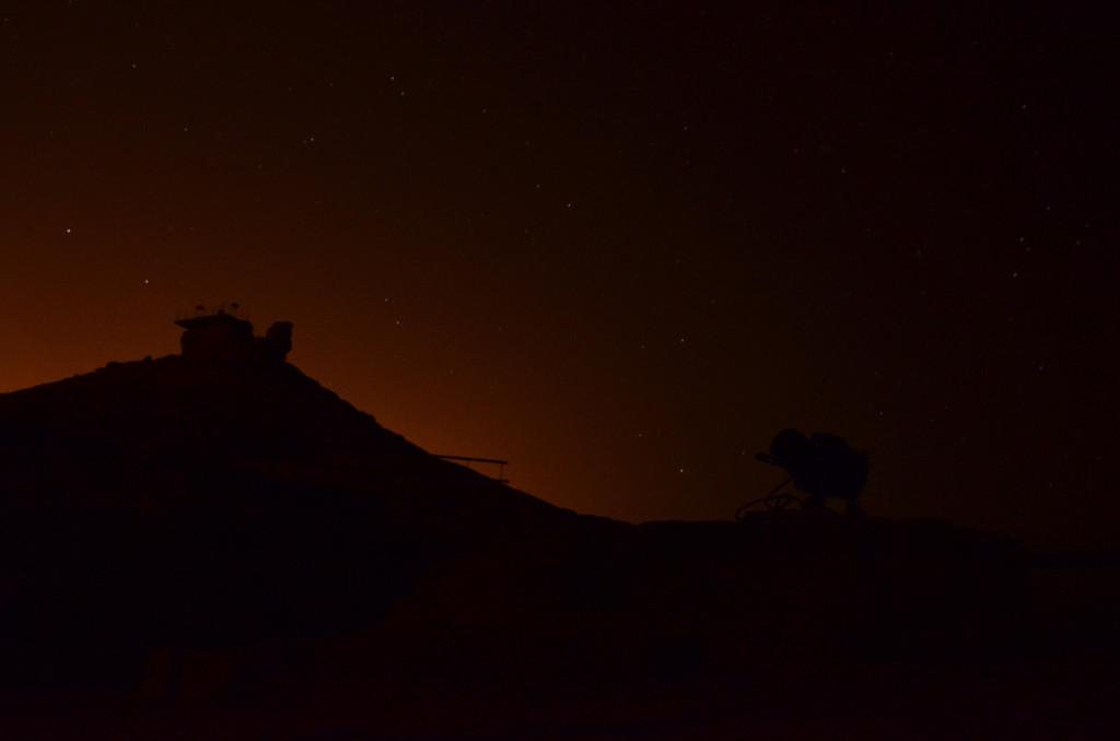 lovení hvězd fotoaparátem, Mitzpe Ramon, Izrael