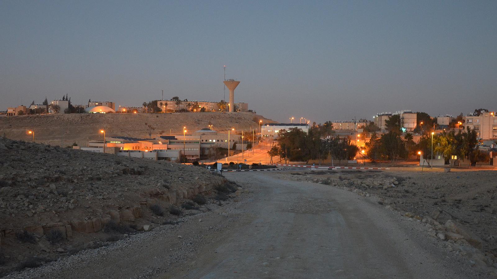 soumrak v Mitzpe Ramon, Izrael