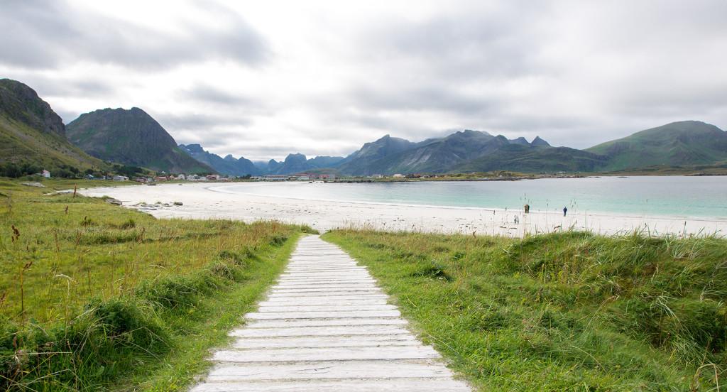 pláž Ramberg, Lofoty, Norsko