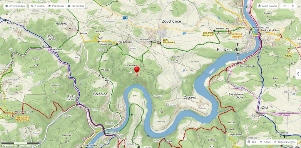 Solenicky meandr turisticka mapa