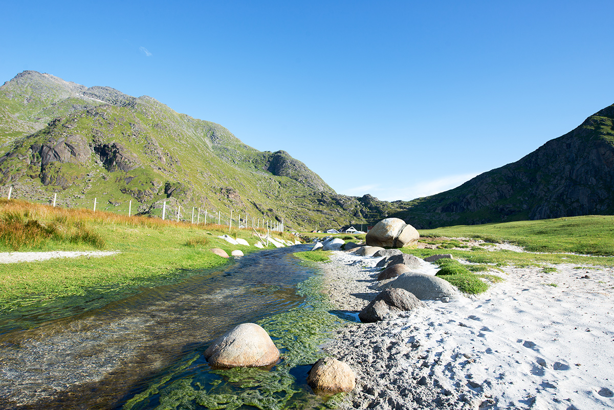 poblíž Uttakleiv, Lofoty, Norsko