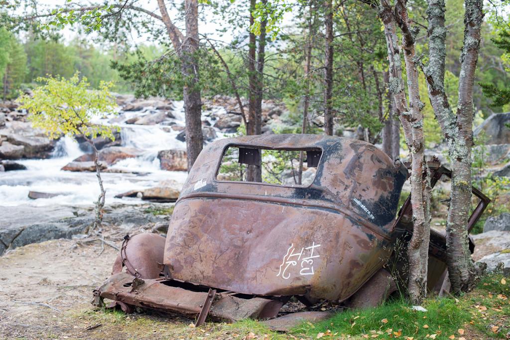 Veterán u arktické říčky, Norsko