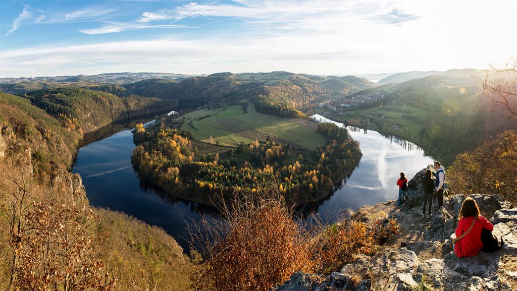 Vyhlídka na Solenický meandr - Vltava