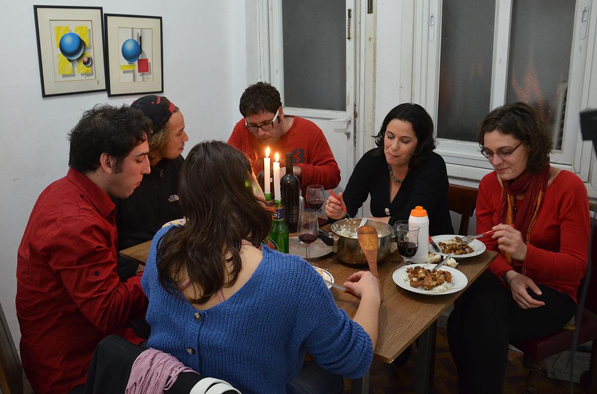 šabatová večeře s mými izraelskými přáteli, Tel-Aviv, Izrael