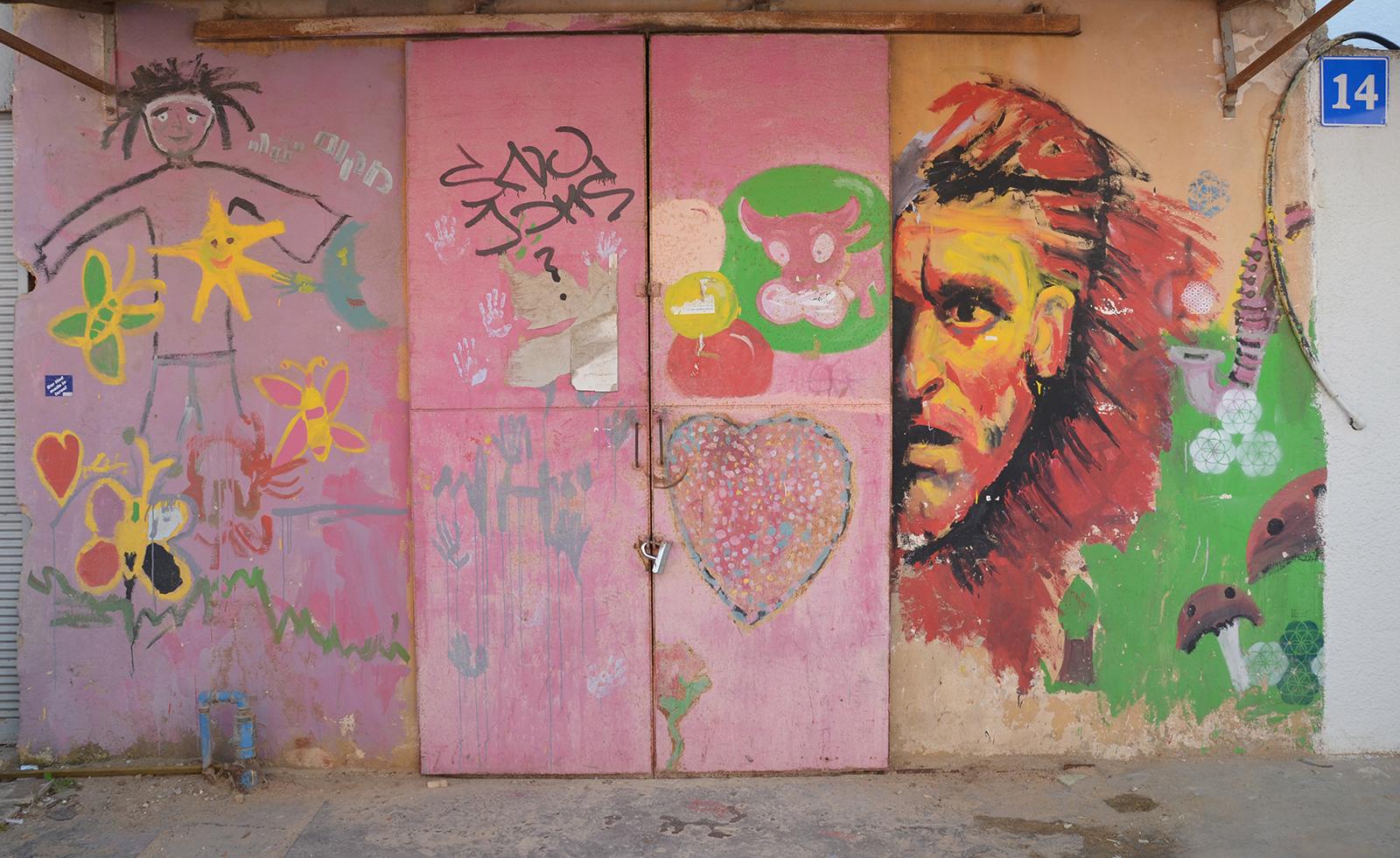 Uličky čtvrti Florentin v době šabatu, Tel-Aviv, Izrael