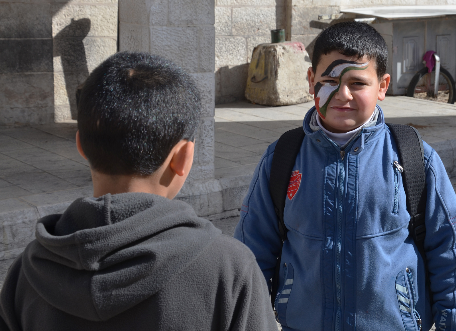Palestinský fanoušek, Betlém, Západní Břeh
