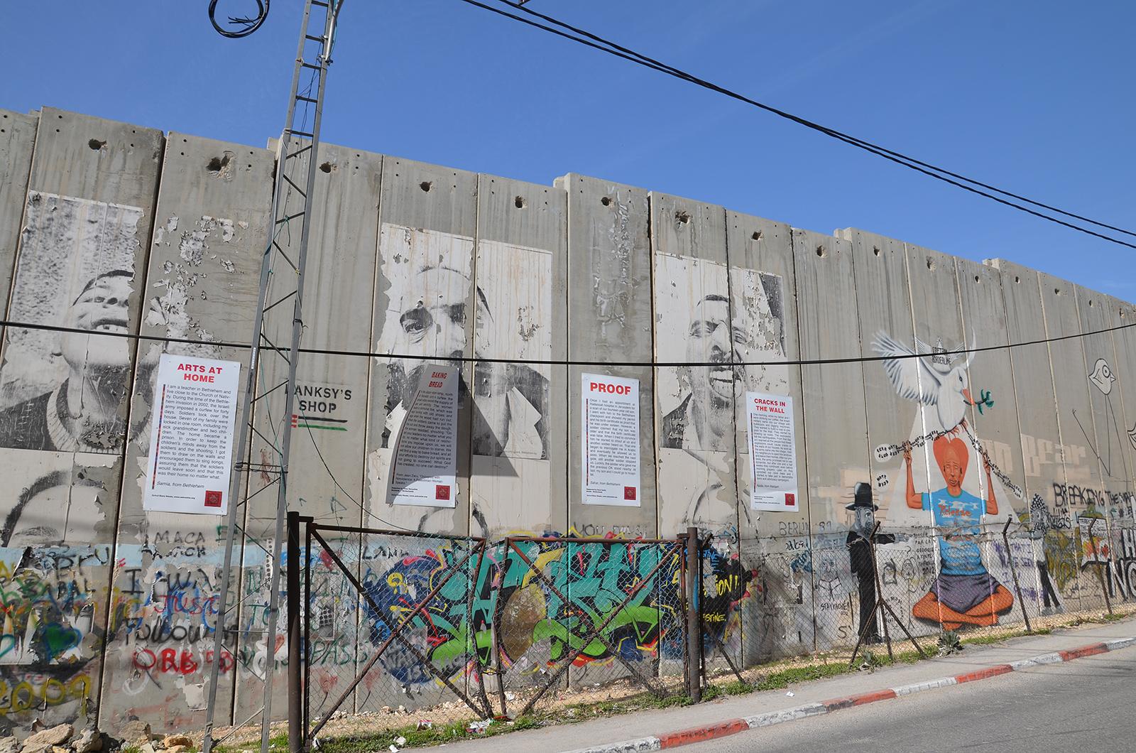 Zeď oddělující Izrael a Západní Břeh
