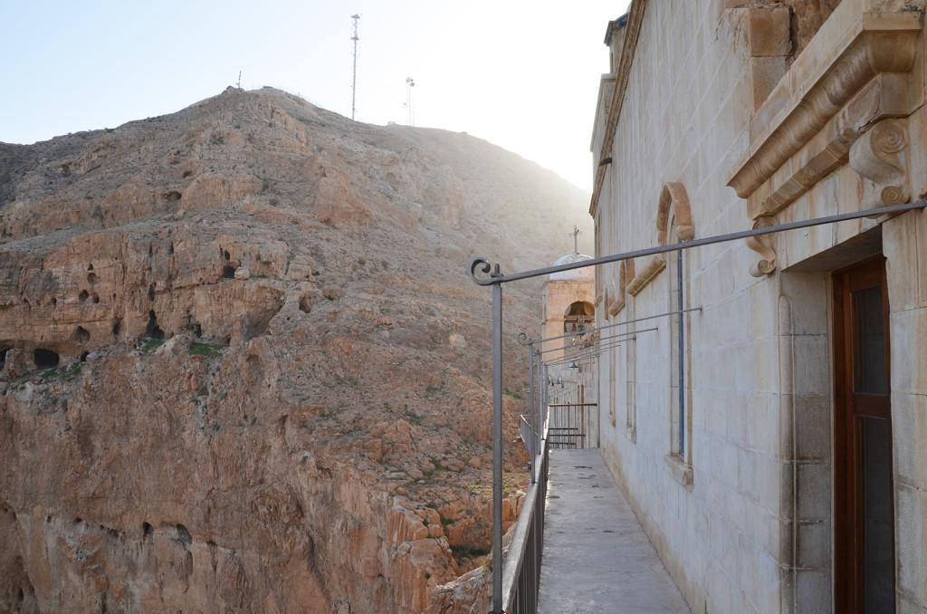 Exteriér Klášteru pokušení, Jericho, Západní Břeh
