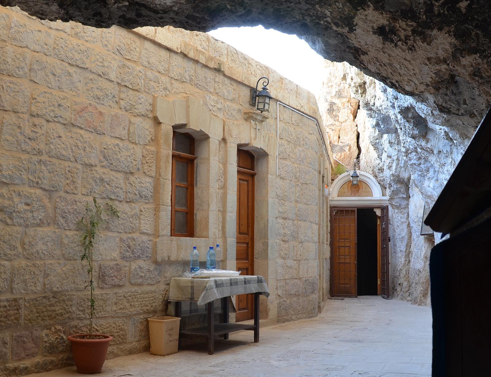 Interiér Klášteru pokušení, Jericho, Západní Břeh