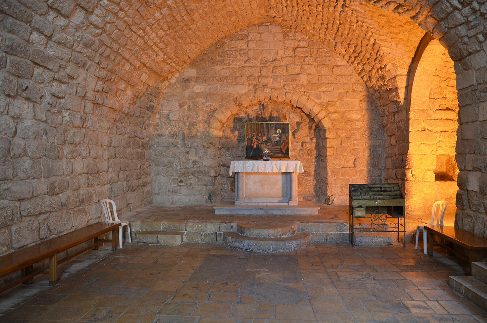 interiér stavby, Nazaret, Izrael