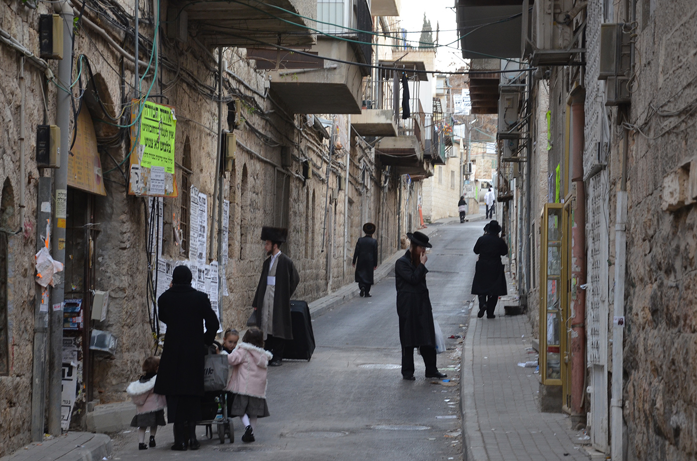 ulice v Mea Shearim, Jeruzalém, Izrael