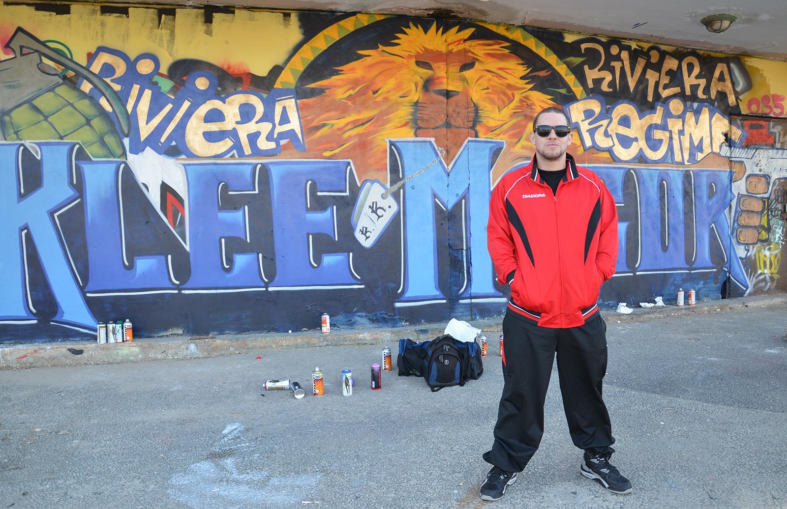 Klee Magor právě dotvořil svůj otisk na Tel-Avivských zdích, Izrael