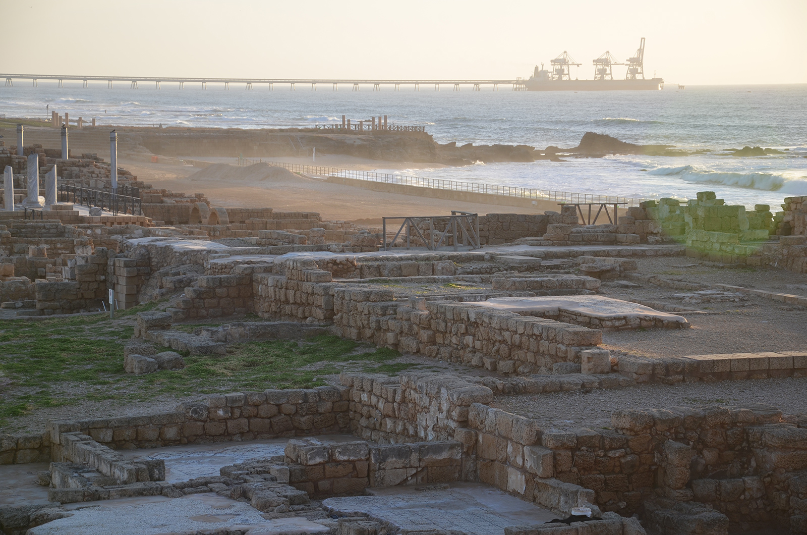 hlavní atrakce města Caesarea, Izrael