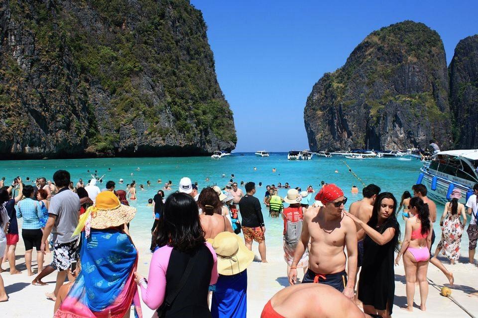 pláž maya bay thajsko