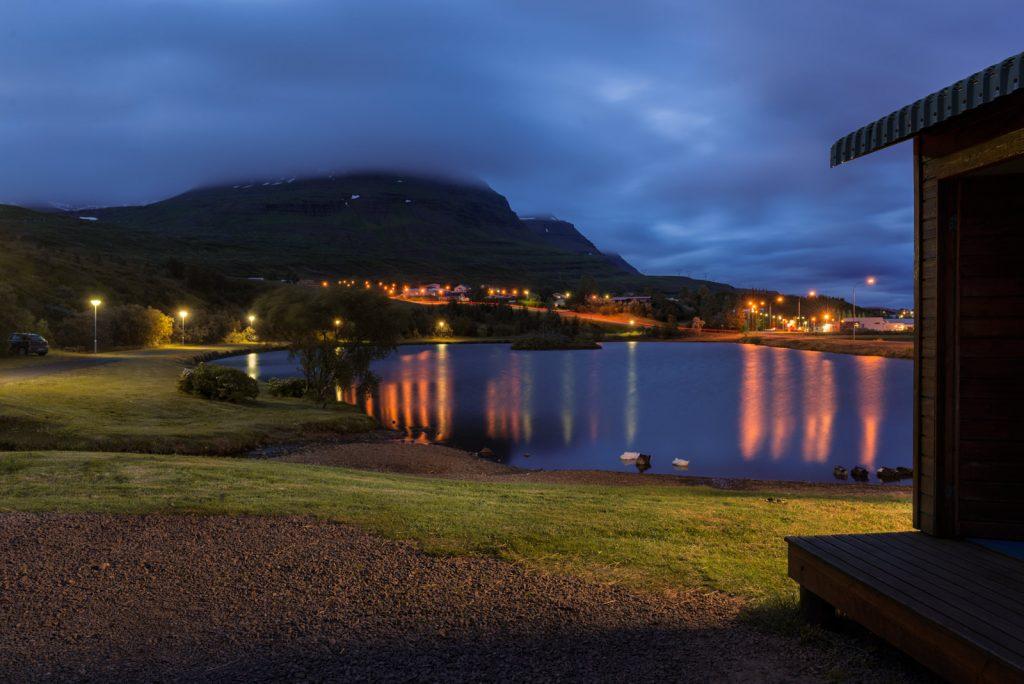 Reydarfjordur at night Iceland