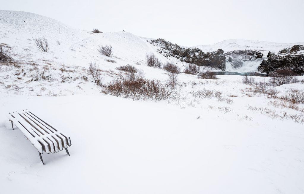 hjalparfoss icelandic winter days