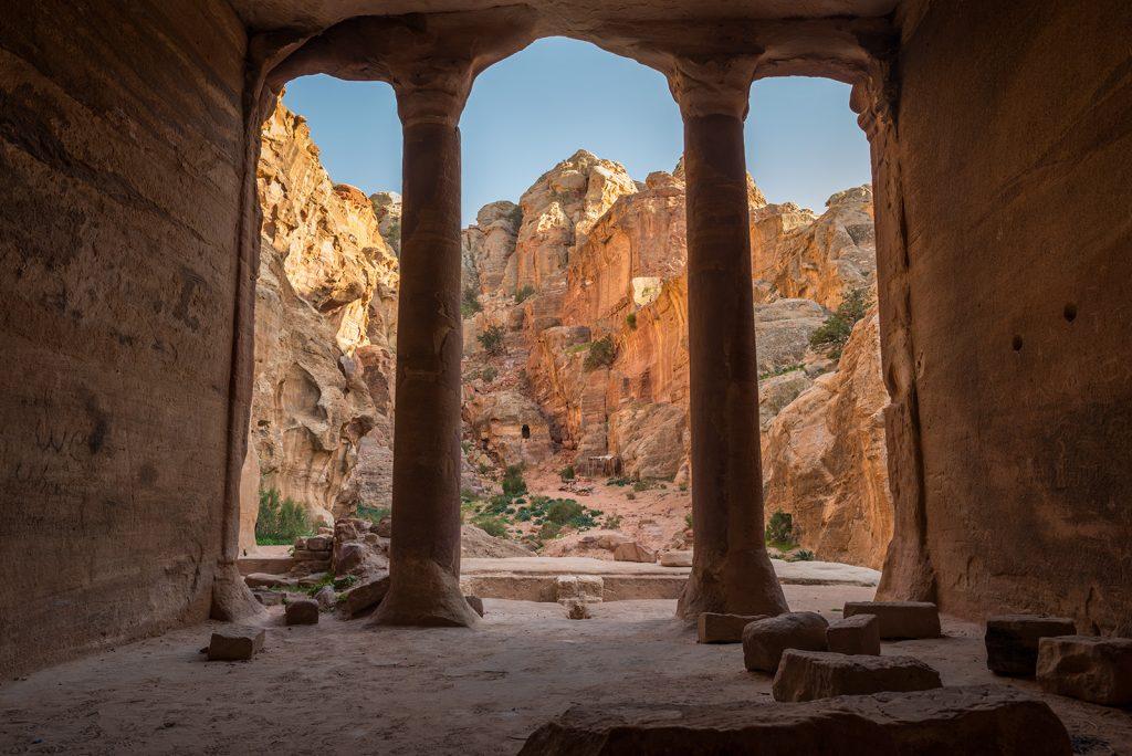 Pohled ze skalního domu - Petra, Jordansko