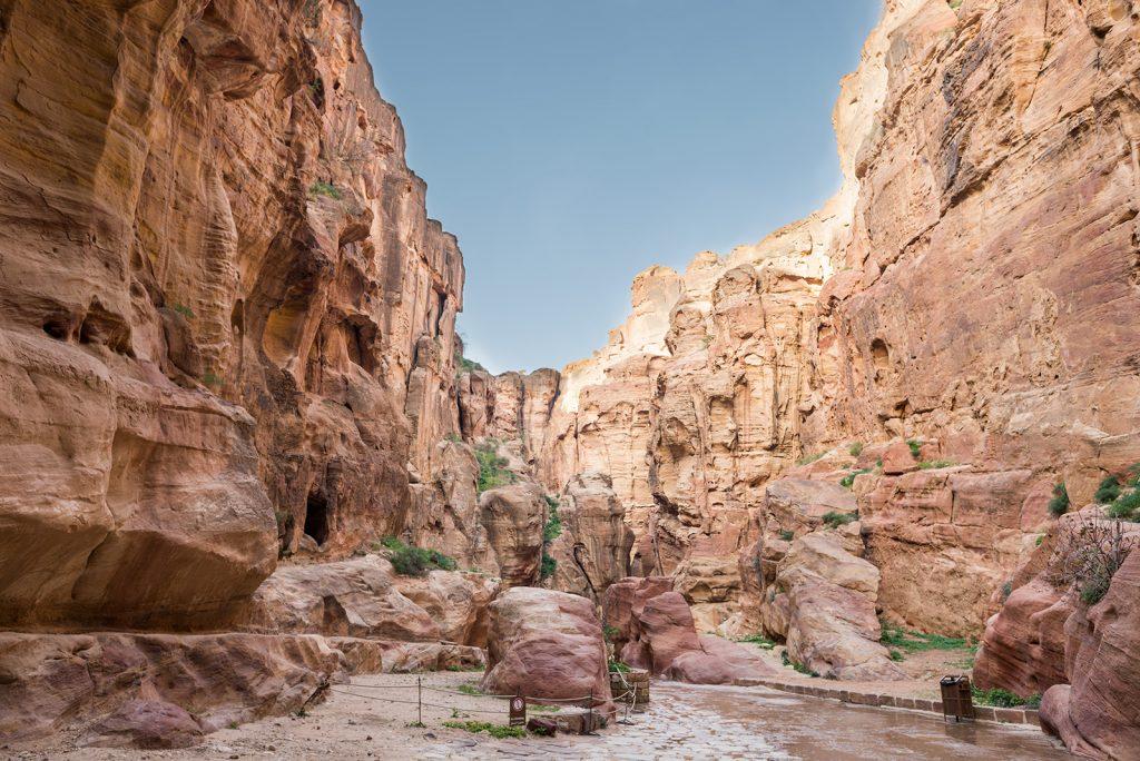 Soutěska Siq v jordánské Petře