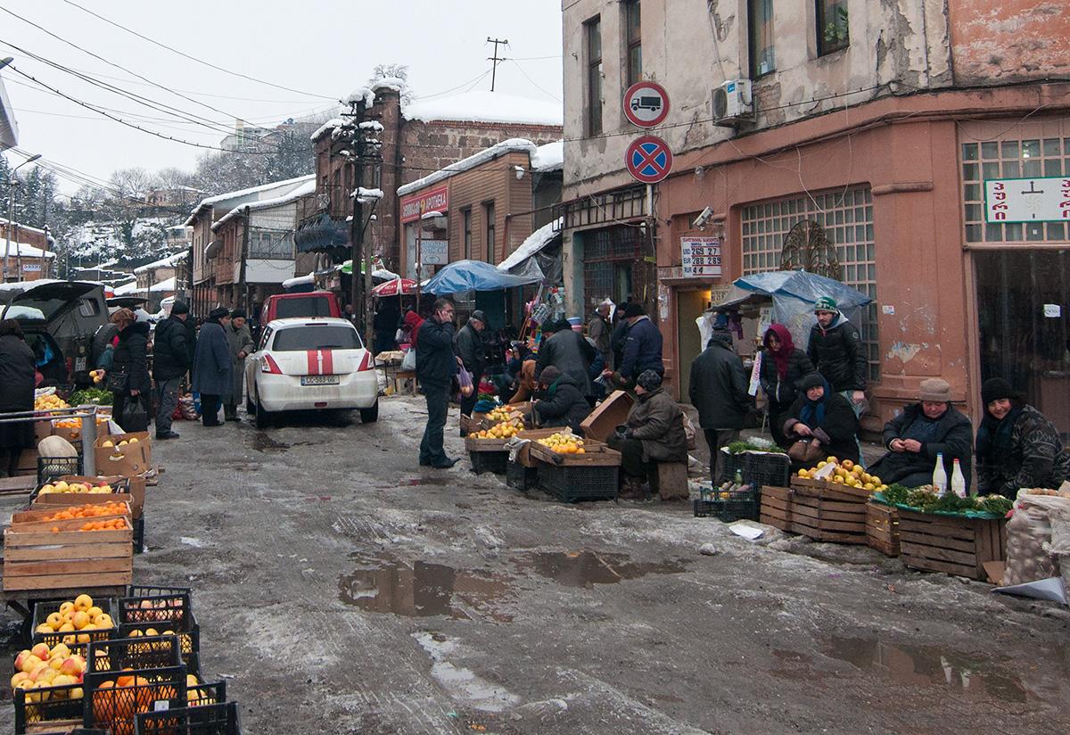 tržiště v Kutaisi - Grúzie