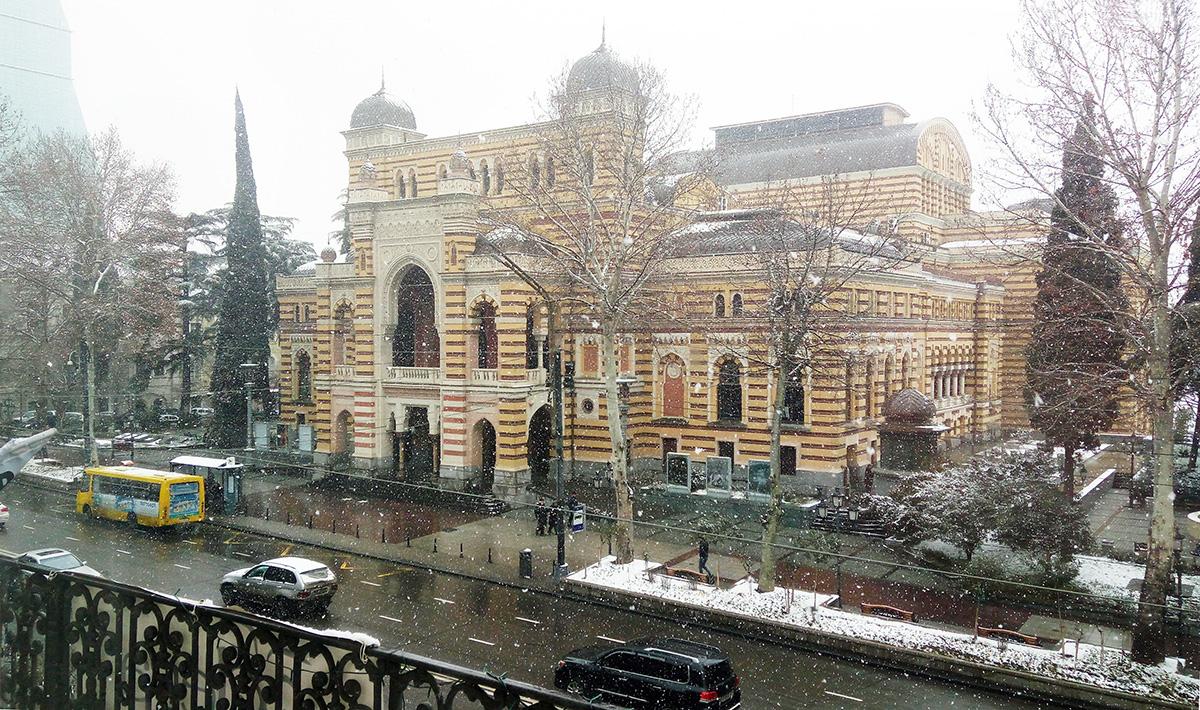Budova opery na Rustaveliho třídě v Tbilisi