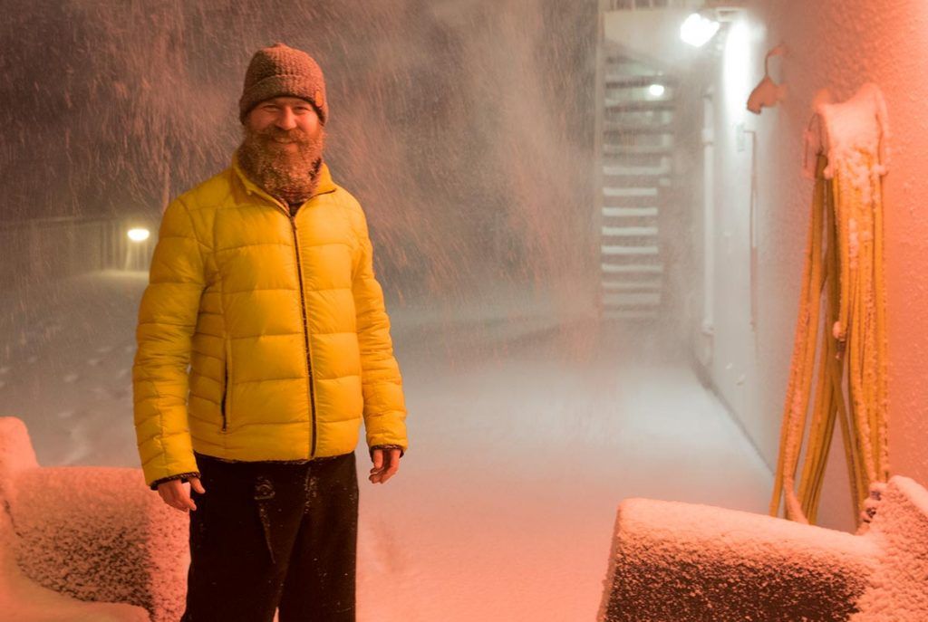 arktické podmínky vládnoucí na trajektu MS Norröna